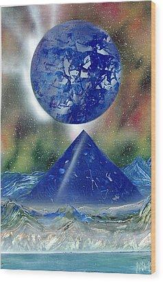 Nova Blue  Wood Print by Marc Chambers