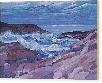 Nova Scotia Coast Wood Print by Janet Ashworth