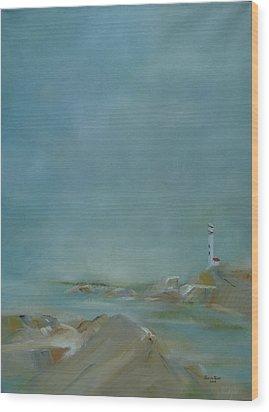 Nova Scotia Fog Wood Print