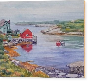 Nova Scotia Harbor Wood Print