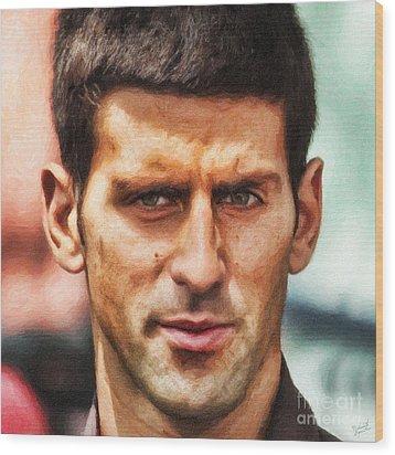 Novak Djokovic Wood Print by Nishanth Gopinathan