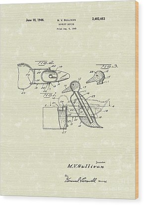 Novelty Duck 1946 Patent Art Wood Print by Prior Art Design