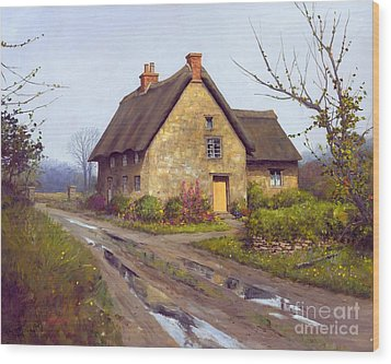 November Cottage  Wood Print by Michael Swanson
