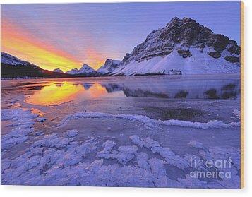 November Freeze Wood Print by Dan Jurak