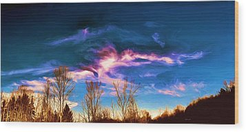 November Skies Wood Print by Dennis Lundell
