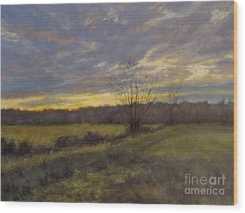 November Sunset Wood Print by Gregory Arnett