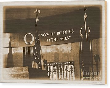 Wood Print featuring the photograph Now He Belongs To The Ages by Luther Fine Art
