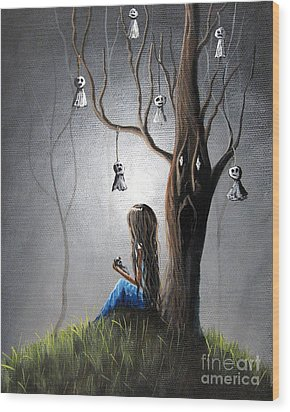 Now She Won't Be Alone II By Shawna Erback Wood Print by Shawna Erback