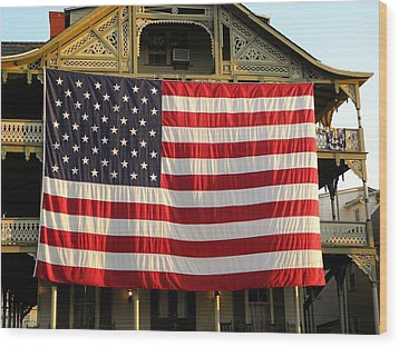 Now This Is A Flag Wood Print by John Williams