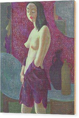 Nu 10 Wood Print by Leonid Petrushin