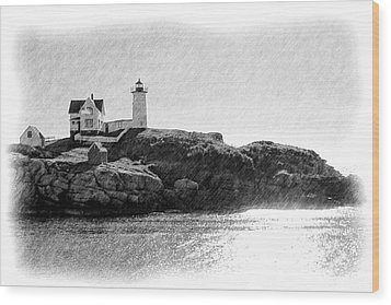 Nubble Wood Print