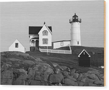 Nubble Lighthouse Wood Print by Will Gunadi