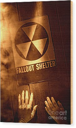 Nuclear Disaster Wood Print by Olivier Le Queinec