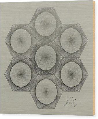 Nuclear Fusion Wood Print by Jason Padgett
