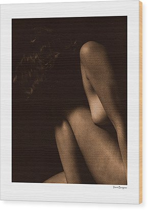 Wood Print featuring the photograph Nude 5 by Travis Burgess