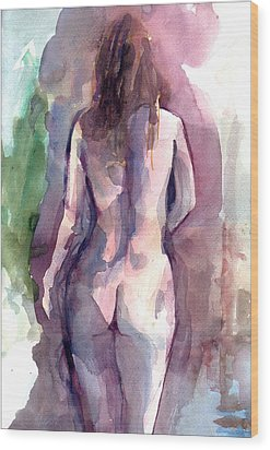Nude Wood Print by Faruk Koksal