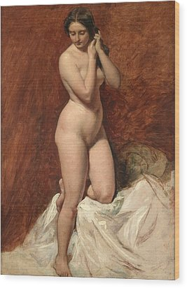 Nude From The Front Wood Print by William Etty
