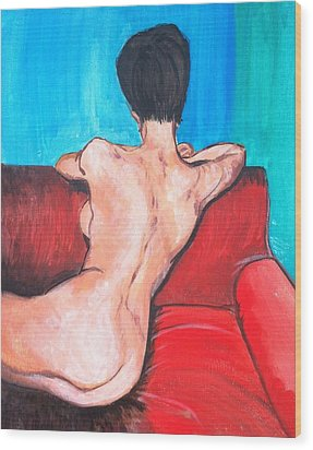 Nude Lady - Mad Men Wood Print