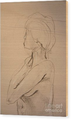 Nude Profile Wood Print