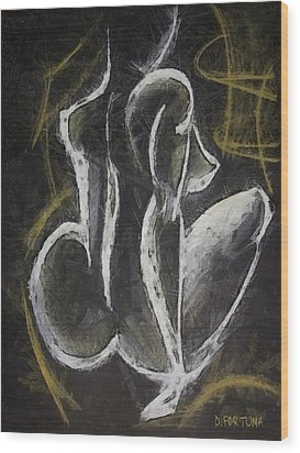 Wood Print featuring the drawing Nude  Vii by Dragica  Micki Fortuna