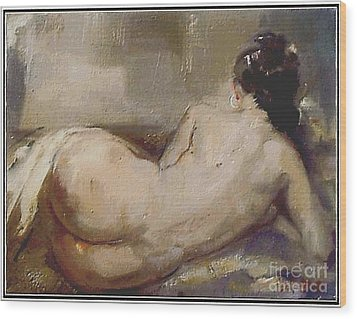 nude woman NW1 Wood Print
