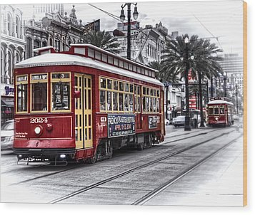 Wood Print featuring the photograph Number 2024 Trolley by Tammy Wetzel
