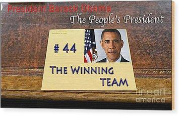 Number 44 - The Winning Team Wood Print