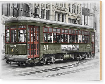 Wood Print featuring the photograph Number 965 Trolley by Tammy Wetzel