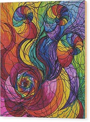 Nurture Wood Print by Teal Eye  Print Store