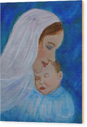 Nurturing Love Of A Mother  Wood Print by The Art With A Heart By Charlotte Phillips
