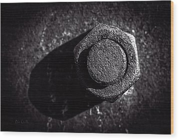 Nut And Bolt Wood Print by Bob Orsillo