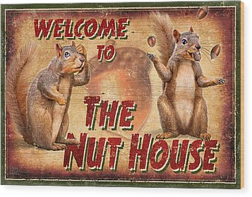 Nut House 2 Wood Print by JQ Licensing