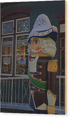 Nutcracker Statue In Downtown Grants Pass Wood Print by Mick Anderson