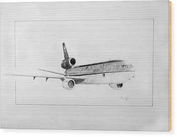 Nwa Dc-10-40 Wood Print by J Griff Griffin