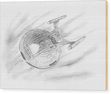 Nx-01 Enterprise Wood Print by Michael Penny