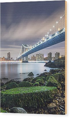 Wood Print featuring the photograph Ny Ny by Anthony Fields