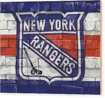 Ny Rangers-2 Wood Print