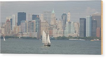 Ny City Skyline Wood Print