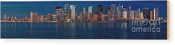 Wood Print featuring the photograph Nyc Pano by Jerry Fornarotto