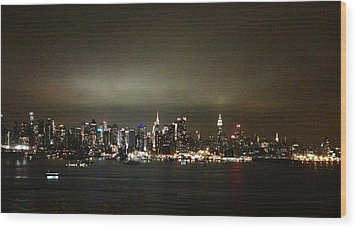 Nyc Skyline Wood Print by Roque Rodriguez
