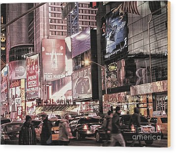 Nyc - Times Square Wood Print by Jesse Forrister