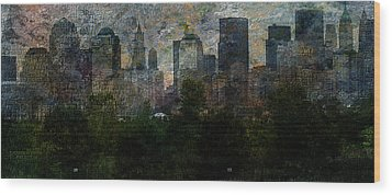 Nyc With Trees Wood Print