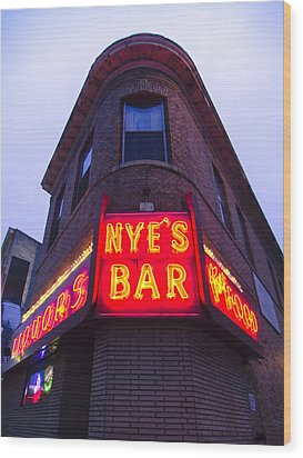 Nye's Bar By Day Wood Print