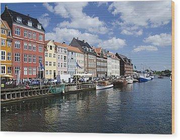 Nyhavn - Copenhagen Denmark Wood Print by Jon Berghoff