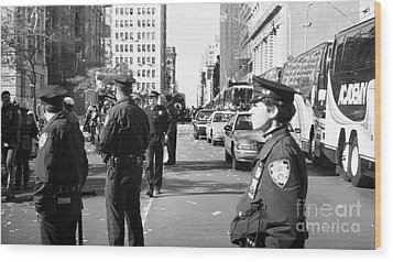 Nypd 1990s Wood Print by John Rizzuto