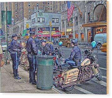 Nypd Highway Patrol Wood Print by Ron Shoshani