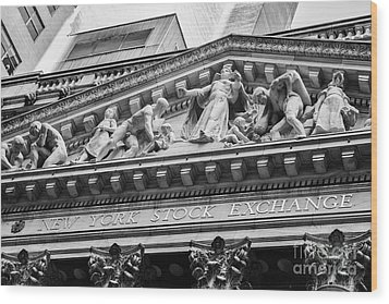 Nyse Wood Print by Jerry Fornarotto