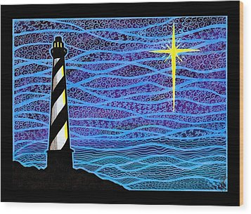 O Holy Night Hatteras Wood Print by Jim Harris