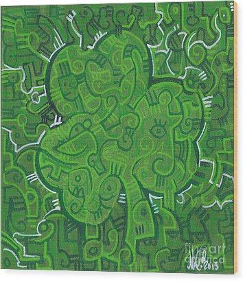O' Lucky Wood Print by Michael Ciccotello