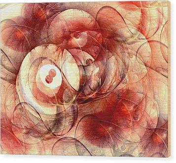 O Positive Wood Print by Anastasiya Malakhova